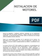 Instalacion de Motores