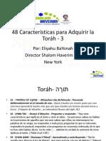 48 Caracteristicas de Torah 3