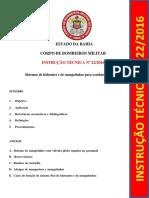 Instrução Técnica Nº. 22-2016 - Sistema de Hidrantes e Mangotinhos