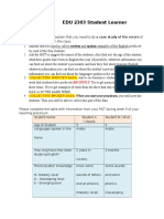 edu 2303 student learner profiles