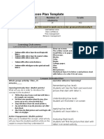 lesson plan template   letter n
