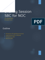 Sharing Session SBC for NOC
