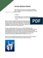 Metode Sintesis Dalam Kimia Organik