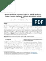Optimal Distributed Cooperative Control for Multiple Quadrotors