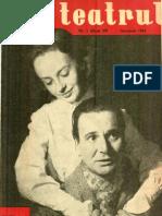 Revista Teatrul, nr. 1, anul VI, ianuarie 1961