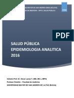 Epidemiologia Analitica Dra Oscar Lanza