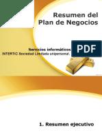 Resumen Del Plan de Negocios
