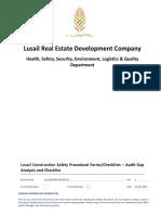 LUS HSE FM4 455 005.01 Audit Gap Analysis Checklist