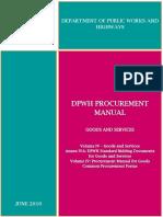 DPWH Procurement Manual - Volume IV