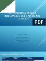 Metodología para la integración del expediente clínico