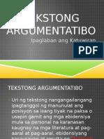 Tekstong Argumentatibo
