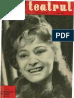 Revista Teatrul, nr. 7, anul VI, iulie 1961
