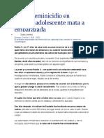 Nuevo Feminicidio en Puebla