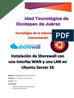 Instalacion y Configuracion de Shorewall Ubuntu Server 16