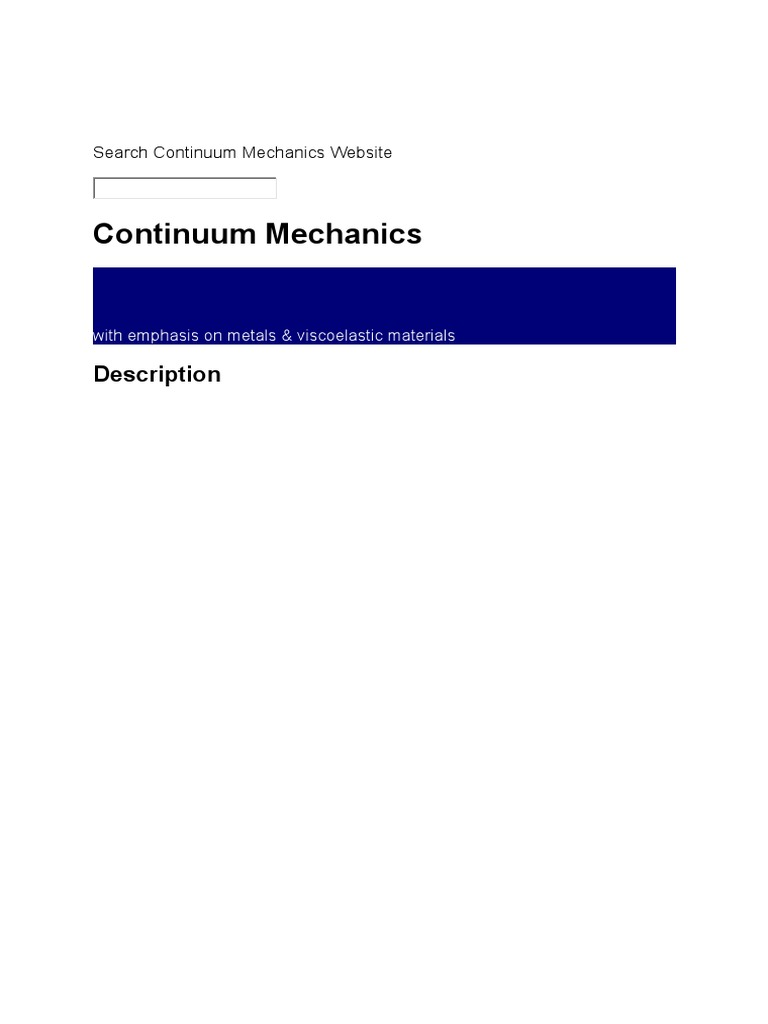 search continuum mechanics website stress mechanics rh scribd com