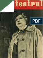 Revista Teatrul, nr. 9, anul VI, septembrie 1961