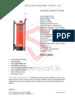 Features of Ceasefire Metal Fire Extinguisher - Spm Tec - 4 Kg Online