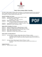 student affairs counseling study plan