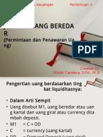 MATERI JUMLAH UANG BEREDAR (BANK DAN LEMBAGA KEUANGAN PERTEMUAN 3)