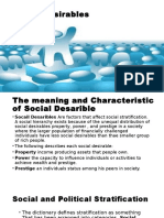 social desirables