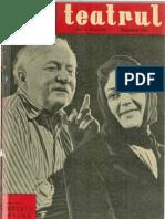 Revista Teatrul, nr. 11, anul VI, noiembrie 1961