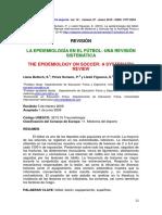 LA EPIDEMIOLOGÍA EN EL FÚTBOL- UNA REVISIÓN SISTEMÁTICAFutbol revision.pdf