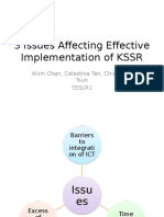 3 Issues Affecting the Implementation of KSSR