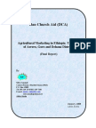 Final Report of Agricultural Marketing Research