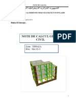 Note de Calcul Villa