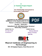 MIET MBA Front Page Sumeer Training.docx
