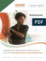 EduGrande Large Interactive Whiteboard Brochure April 2016