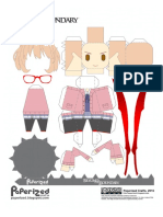 Beyond the Boundary - Mirai Kuriyama Papercraft