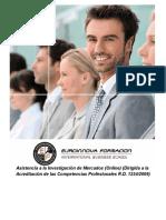 Asistencia a la Investigación de Mercados (Online) (Dirigida a la Acreditación de las Comptencias Profesionales R.D. 1224/2009)