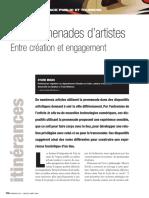 Les promenades d'artistes Entre création et engagement