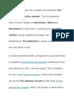 Fire Alarm- Thermistor Circuit Diagram