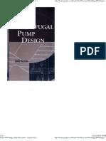 Centrifugal pump design by john tuzson - content