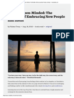 Become Open-Minded - The Benefits of Embracing New People and Ideas