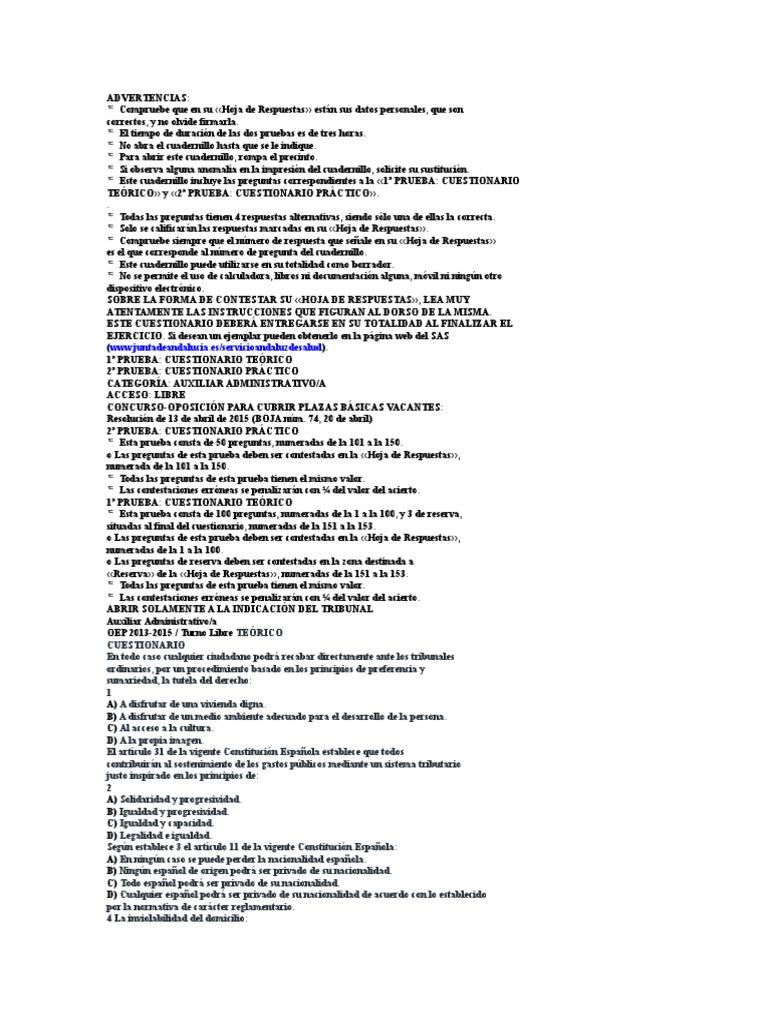 Cuestionario Examen Auxiliar