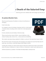 Death of the Salaried Employee