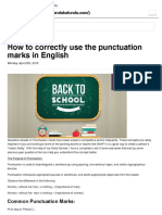 Use of Punctuation Marks