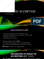 Right of Accretion