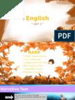 English Narrative Text