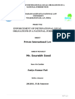Enforcement of International Law in National Jurisdiction