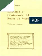 BASTITANIA Y CONTESTANIA DEL REINO DE MURCIA. Volumen primero