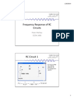 Frequency Response of Rc Circuits Hand Out