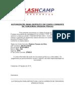 Autorização Para Depósito Em Conta Corrente de Terceiros