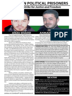 Flyer about Hunger Strikers Anas Shadid and Ahmad Abu Fara