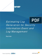 Estimating Log Generation White Paper
