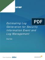 Estimating Log Generation White Paper