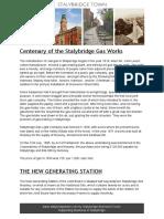 Centenary of the Stalybridge Gas Works